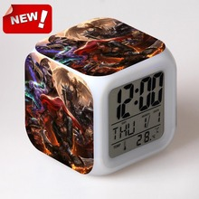 Lissandra LOL brand alarm clock LCD Alarm Clock Thermometer Date Time Night Light  table clock gadgets cool valentine day