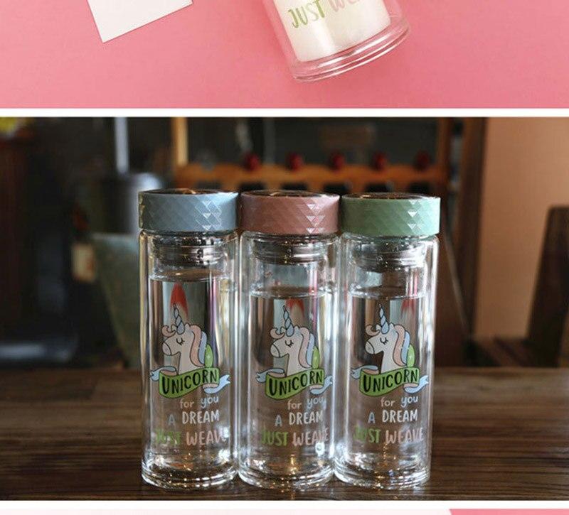 Double Wall Glass Water Bottle 18