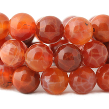 wholesale Fire Dragon Veins Agates Natural Stone Beads for Jewelry Making Necklace Bracelet DIY Jewelry 6 8 10 12mm(China)