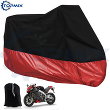 Universal Black+Red Waterproof Motorcycle Moto Motorbike Electric Bicycle Cover Motor Rain Coat XL/XXL/XXXL 3 Size available