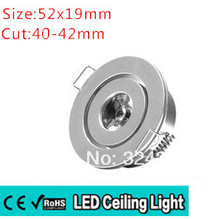 10pcs/lot best price 1W 3W mini high power Recessed Led Downlight AC85- 260v 110-330LM with LED Driver High Quality CE&ROHS(China)