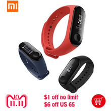 "Original Xiaomi Mi Band 3 Smart Bracelet Bluetoot 4.2 0.78""OLED Touch Screen 5ATM Water Resistant Fitness Tracker Smart Wristand"