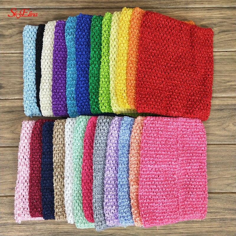 20  23 cm Children Handmade Wrapped Chest Elastic Baby Girl Crochet Tube Tops Wide for Tulle skirt DIY Dress material 5Zsh939 (64)