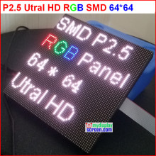 p2.5 led display module, 2.5mm pixel indoor rgb full color led display ,1/32 scan 160*160mm 65*64 pixel p2 full color module(China)
