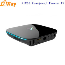 Italy Iptv French iptv Box New X Player 2GB/16GB S912 Android 7.1 TV BOX HD Smart tv+1 Year Europe server 1200+ iptv Channels