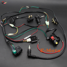 ELECTRIC WIRE WIRING HARNESS CDI COIL Relay Spark Plug Kill Switch ASSEMBLY FOR 50 70 90 110CC 125CC ATV QUAD BUGGY E-Moto