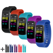 Y5 Smart Bracelet Color Display Wristband Heart Rate Activity Fitness Tracker Smart Band Bracelet VS for XiaoMi Miband 2(China)