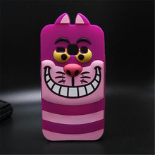 "3D Cartoon violet Cat Back Cover For Samsung Galaxy J1 (2016) 4.5"" J120F SM-J120F J120 Soft Silicone Casing Phone Case"