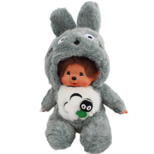 Free Shipping cute 20 cm monkiki change to animals plush doll for chidlren monchhichi monchichi totoro doll, gray