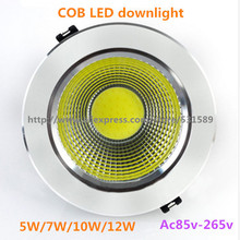 Super Bright  20PCS  Led Downlight COB Ceiling Spot Light 5w 7W 10w 12w ceiling recessed Lights Warm Cool White Indoor Lighting