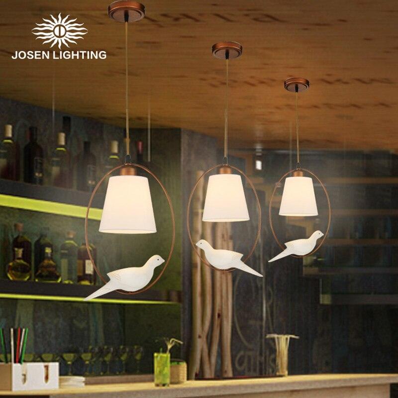 2017 New Hot lustre genuine zinc vintage bird bedroom lamp LED pendant lights Top novelty Indoor Lights birdcage light<br><br>Aliexpress