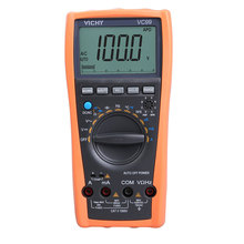 Best Price VC99 Auto Range Digital Multimeter Ammeter Voltmeter Temperature Tester Unit Symbol 61 Selection Analog Bar Display