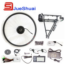 "250W/350W/500W 36V-48V Rear Carrier Battery Electric Bicycle Kits Electric Bike Conversion Kit For 20"" 26"" 700C 28"" Bike Refit"