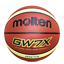Standard Size 7 Molten GW7X Basketball Ball PU Leather Basket ball Men&Teenager Indoor Outdoor Games Basketball With Net+Needle(China)