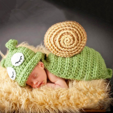 Crochet Snails Pattern Newborn Photography Props Infant Toddler Knitted Costume Handmade Baby Hat
