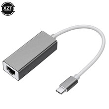 Адаптер Ethernet USB Type-C, сетевая карта USB Type-C к RJ45 10/100 Мбит/с Lan, Интернет-кабель для MacBook, ПК, Windows XP 7 8 10 люкс(Китай)