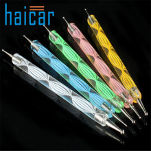 HAICAR 5PCS Multi Coloured Double Ended Nail Art Dotting/Marbleizing Tools