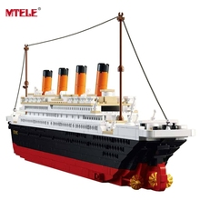 MTELE Brand High Quality Titanic Ship Building Blocks Sets Toys Boat Model Kids Gifts 1021PCS M38-B0577 Compatible with lego