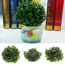 Artificial Plastic Foliage Green Grass Lantern Ball Decor Plants Party Home Decor Green Plant Crafts Decorative Ball Grass(China)