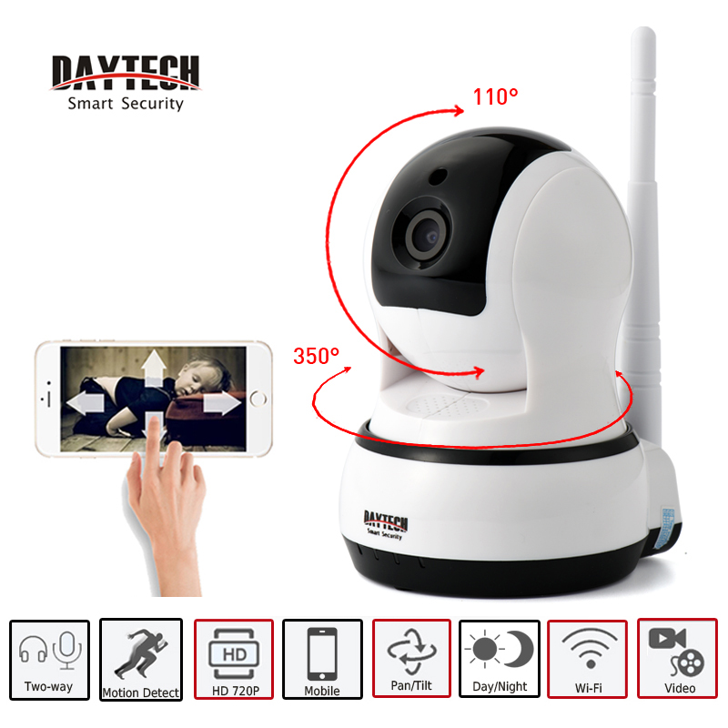 DAYTECH IP Camera WiFi Home Surveillance Security Camera Day Night Vision Two Way Audio Wireless HD Network Baby MonitorDT-C102B<br>
