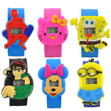 19 Colors Fashion Kids Slap Watches Children Cartoon Watch Silicone Kids Watch Christmas Gift Sports High Quality