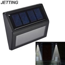 JETTING 1PCS Waterproof 10* 8.4*2.3cm LED Solar Power Wall Light Outdoor Garden Lamp(China)