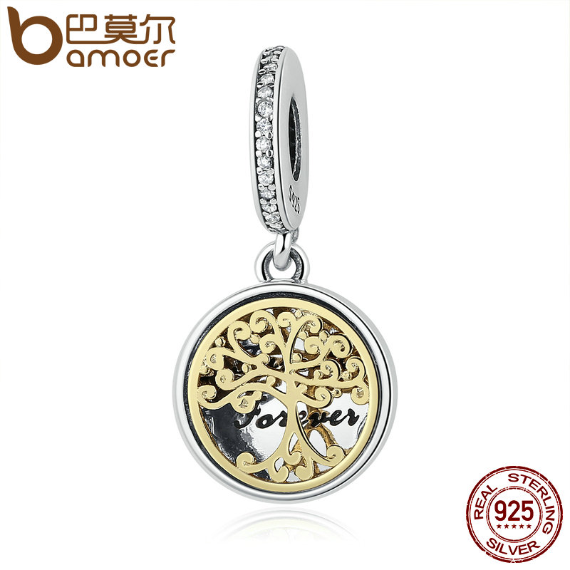 925 Sterling Silver Family Roots Trees & Engraved Family Forever Charms fit Bracelet Jewelry Accessories Making PSC060(China (Mainland))