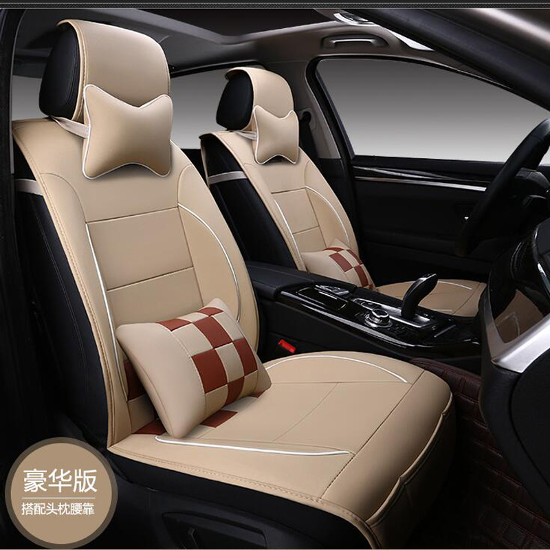 Luxury Leather PU Car Seat Covers Protection Cover Case For Hyundai IX35 SONTA