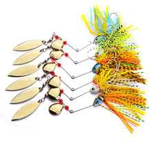 Buy Metal Sequins Lure 6pcs/lot Hard Spinner Lure Spinnerbait Mix Colors Bait Wobblers Sinking Fishing Lure 18g Willow Blades for $8.89 in AliExpress store