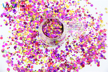 RA321-173  Mix Colors Dot shapes round  Glitter for nail art ,nail gel,makeup and DIY decoration