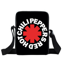 Rock Band Red Hot Chili Peppers Mini Messenger Bag RHCP Small Shoulder Bags Punk Rock Women Men Handbags Rap Crossbody Bags