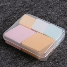 Makeup Foundation Silicone Blender Blending Puff Transparent Silica Flawless Powder Beauty Sponge Make Up Puff with Box/case 1Pc
