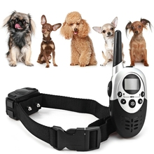 Hot High Quality Dog Trainer 1000m LCD Rechargeable Water Resistant Remote Control Dog Training Collar M613 100 - 240V US Plug(China)