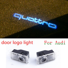 Car door light ghost shadow light logo projector For Audi A3 A4 B6 B8 B7 A6 C6 C5 A7 A8 A5 Q3 Q7 Q5 80 TT Sline RS4 RS5 RS6 S4