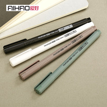 AIHAO Brand 0.35mm Refill Replaceable Gel Pen School Students Test Permanent Ink Carbon Pens Office Writing Rollerball Pens Gift