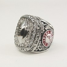 2015 SILVER ALABAMA CRIMSON TIDE COLLEGE FOOTBALL PLAYOFF NATIONAL REPLICA HIGH QUALITY CHAMPIONSHIP RINGS(China)