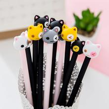 1 Piece Korean Stationery Cartoon Kawaii Cat Pen Advertising Creative Bent School Office Gel Pens Christmas gift