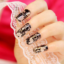 New Sexy Black Lace Flower 3D DIY Nail Art Foil Stickers Women Girls Fingernail Art Manicure Decoration Accessory 1M