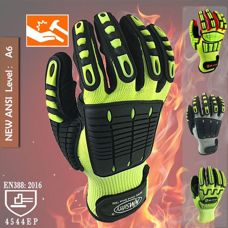 Nylon Gloves Palm Heavy Duty Work Handling Safety Gloves RU