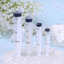 free shipping 5ml/10ml20ml30ml 10pcs/lot Cosmetics sub-bottling syringe needle, plastic syringe dispensing tool(China)