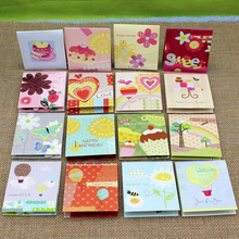 (160 pieces/lot)3D Pup Up Flower Colored Greeting Cards with Envelope Best Wishes Mini Size Romantic Shop Gift Cards Wholesale(China)