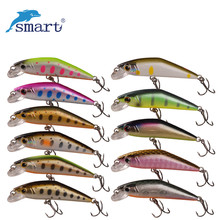 Smart 50mm/3.6g Minnow Lures Sinking Tungsten Ball VMC Hook Swimbait Iscas Artificial Pesca Leurre Fishing Wobblers Plastic Hard