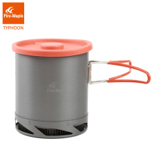 Fire Maple Heat Collectiing Exchanger Pot Cup Camping Picnic Cookware Pot Foldable Handle 1L with Mesh Bag FMC-XK6