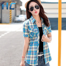 Buy 2016 New Women Tops Fashion Summer Shirts Short Sleeve Tops Plaid Ladies Blusas Cotton Shirt Blouse Womens Clothing Plus Size for $12.34 in AliExpress store