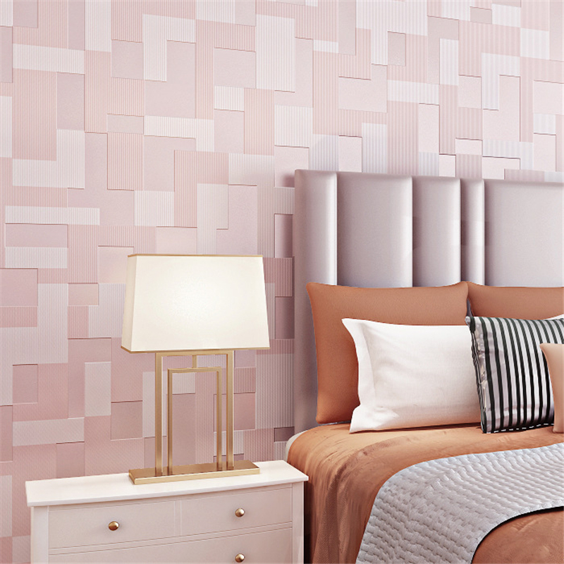 beibehang Modern minimalist background wall paper non woven 3D stereo mosaic geometric electric bedroom living room wallpaper<br>