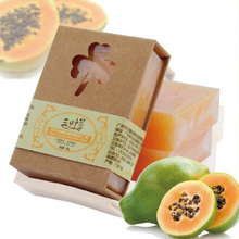 Hot Sale 110g Natural Organic Herbal Green Papaya Whitening   Skin Remove Acne Moisturizing Handmade Soap