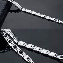 fast shipping Korean style stainless steel energy bracelet, negative ion magnet health care Bracelet