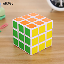 3x3x3 Carbon Fiber Sticker Rubik Cube Speed Smooth Magic Fidget Cubes For Children Gift Colorful Learning&Educational Puzzle Toy