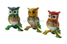 Cheap Crystal Studded Owl Boxes New Owl Look New Owl Design Free Shipping