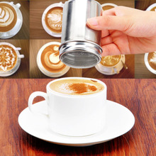 1 pc Stainless Chocolate Shaker Cocoa Flour Icing Sugar Powder Coffee Sifter Lid Shaker Coffee New Arrival Kitchen Cooking Tool